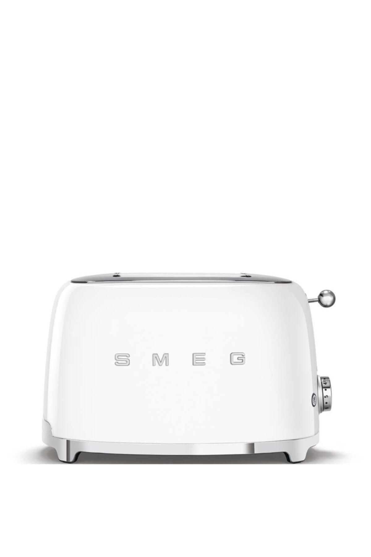 SMEG Tsf01wheu Retro Beyaz 2x2 Slot Ekmek Kızartma Makinesi 1