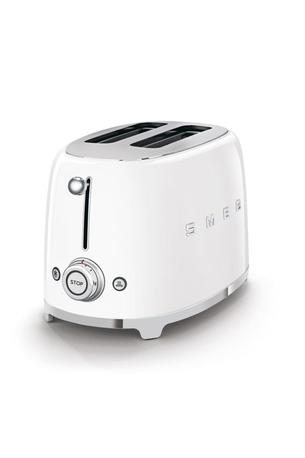 SMEG Tsf01wheu Retro Beyaz 2x2 Slot Ekmek Kızartma Makinesi 2