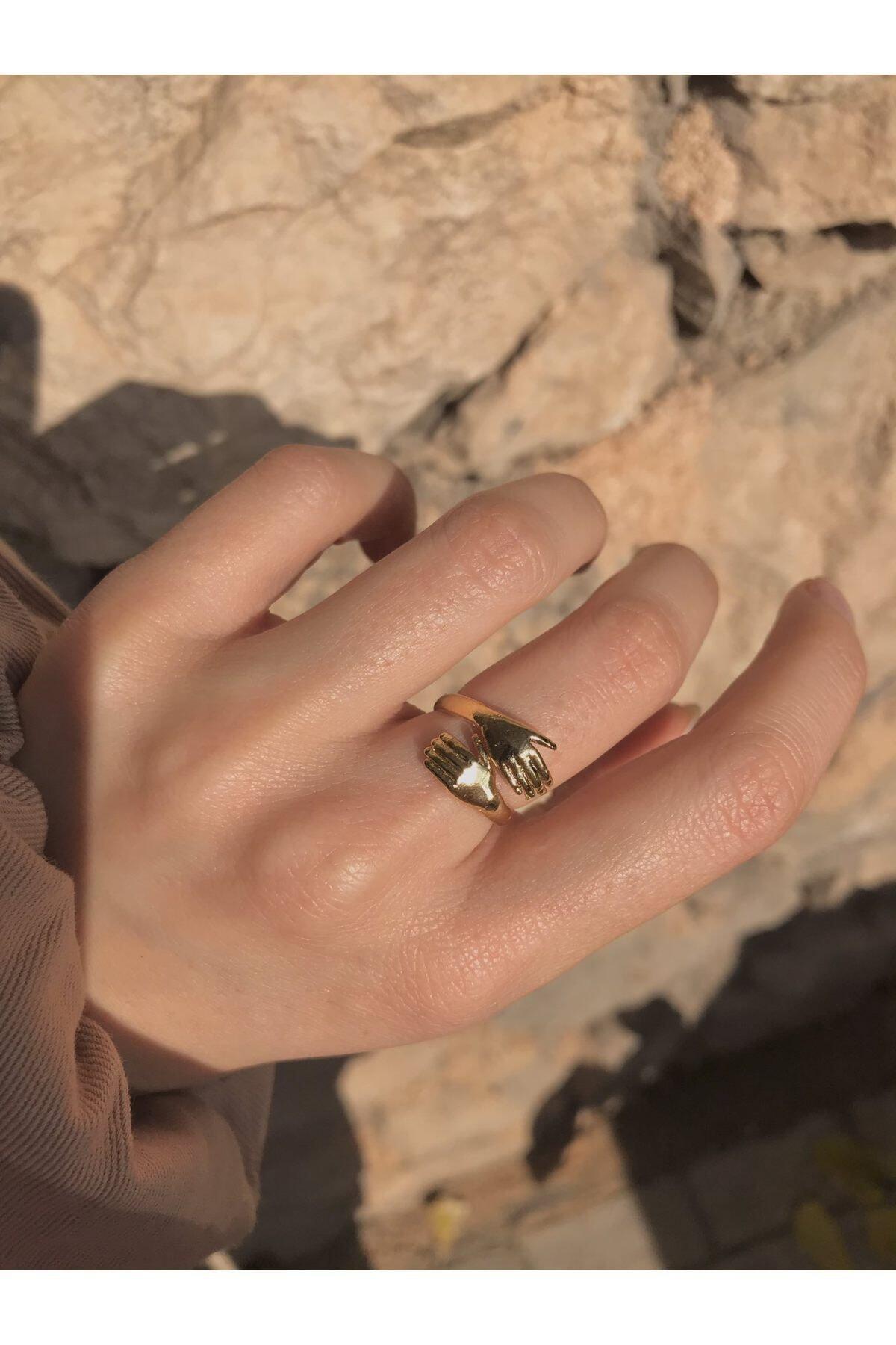 Harlofia Jewelry Altın Kaplama Sevgi Yüzüğü 1