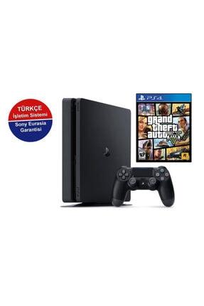 Sony Playstation 4 Slim 500 GB + PS4 Gta 5 (Eurasia Garantili)