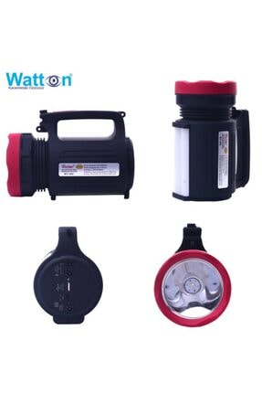 Watton Black Wt-350 Çift Yönlü Projektör Şarjlı Işıldak