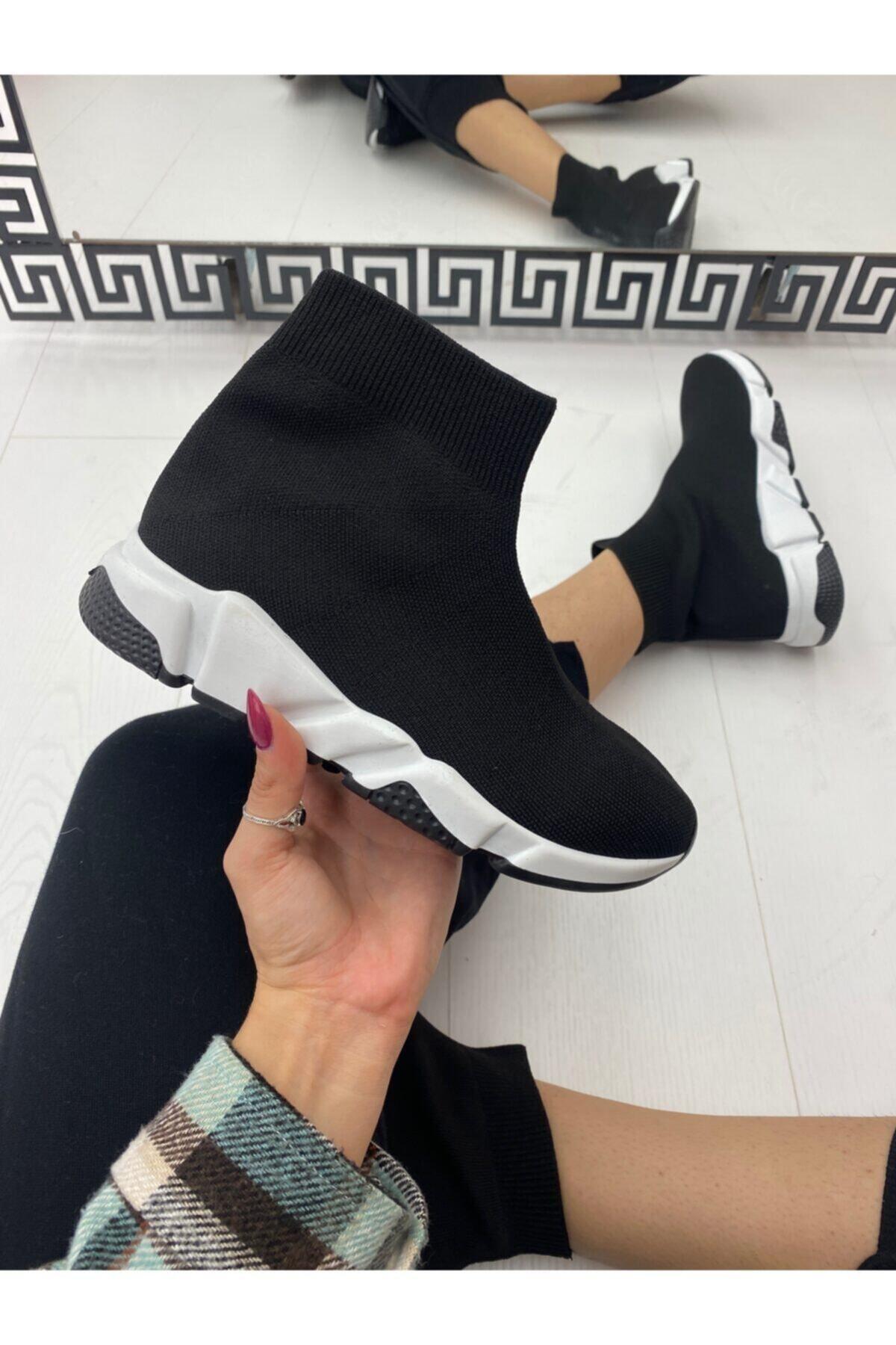 ELSESHOES Kadın Siyah Bogazlı Spor Ayakkabı 2