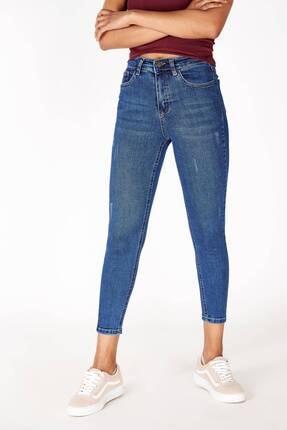 Addax Kadın Açık Denim Rengi Yüksek Bel Pantolon Jean ADX-0000014722