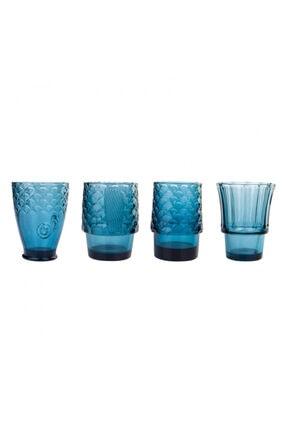 Karaca Fish 4lü Mavi Meşrubat Bardağı