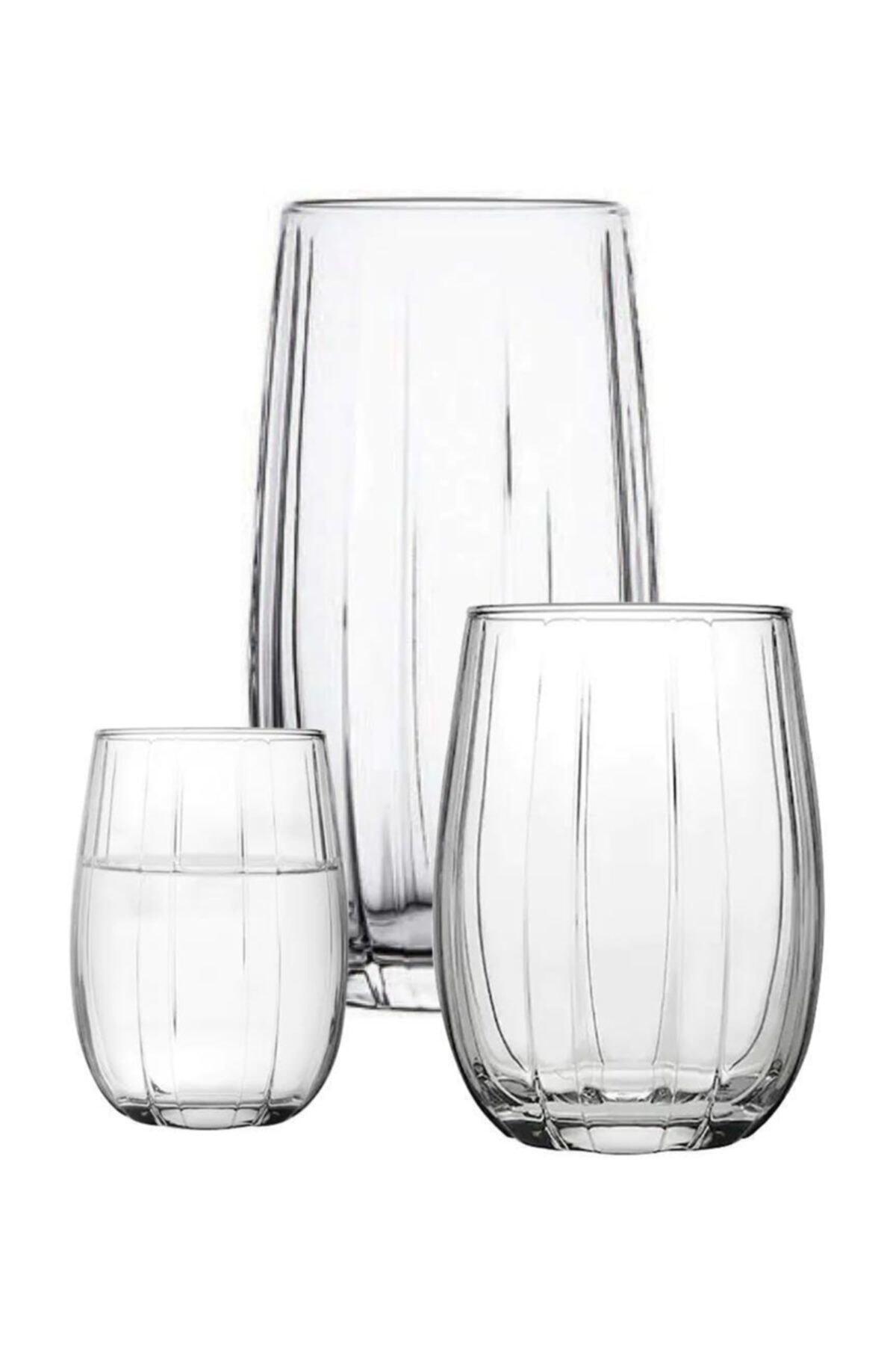 Paşabahçe Linka 18 Parça Su Meşrubat Kahve Yanı Bardağı Takımı Seti Han-krp-420405-420415-420212 1