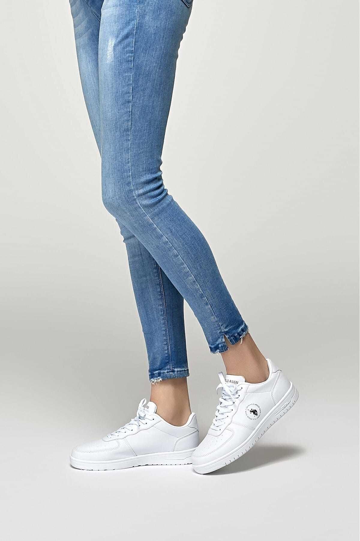 U.S. Polo Assn. Dimler Beyaz Kadın Sneaker Ayakkabı 100325940 1