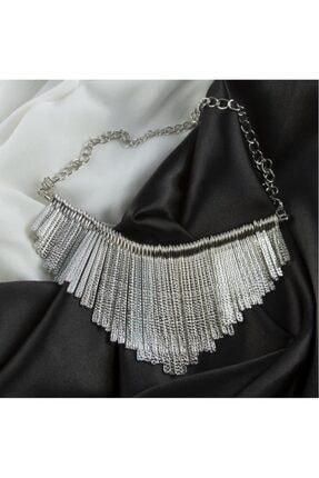 Peyless Çubuk Figürlü Metal Yaka Kolye
