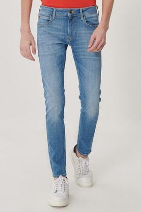 Lee Malone Erkek Açık Mavi Skinny Normal Bel Çok Dar Paça Esnek Jean Pantolon