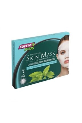 Softo Plus Çay Ağacı Özlü Maske Sivilce Karşıtı 3 Adet