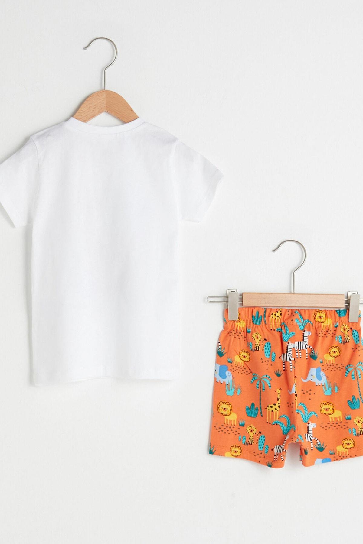LC Waikiki Erkek Bebek Optik Beyaz E5X Pijama Takımı 2