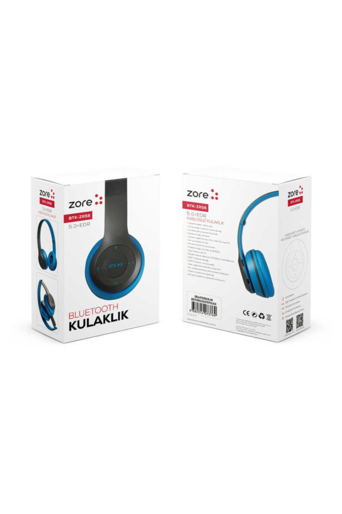 zore Bluetooth Kulaklık Kablosuz Müzik Oyuncu Kulaklığı Btk Serisi Head Phone 2