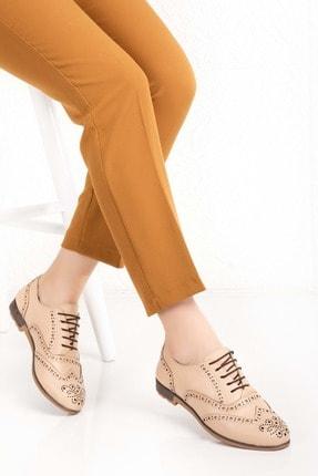 Gondol Kadın Bej Hakiki Deri Anatomik Taban Casual Ayakkabı