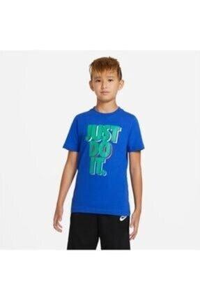 Nike Erkek Çocuk10.12 Yaş Nıke U Nsw Tee Jdı Stack Tişört Cu4569-480