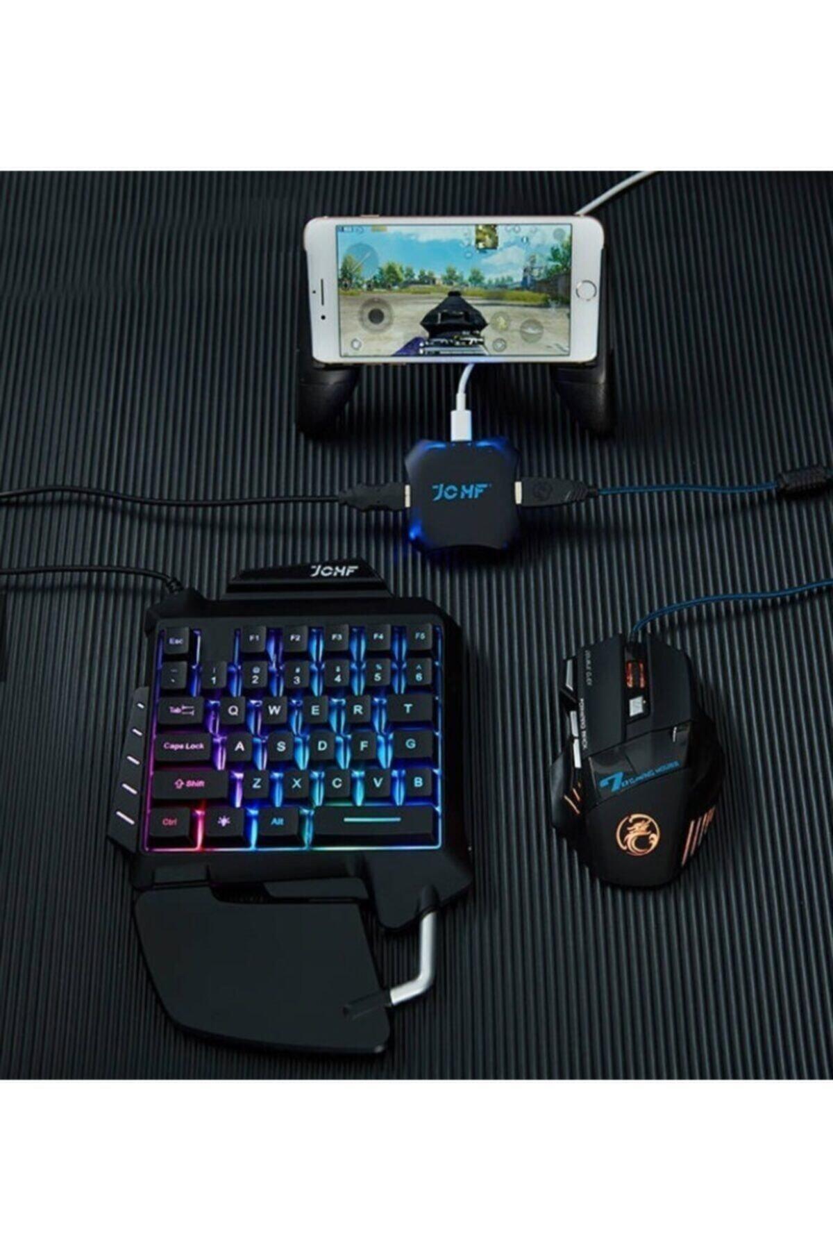 Kılıfsiparis Pubg Klavye Jchf-68 3 In 1 Klavye Mouse Bağlantılı Mobil Oyun Seti 2