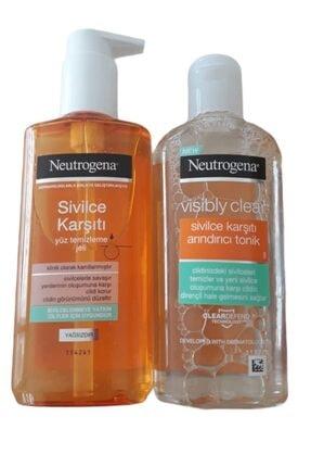 Neutrogena Sivilce Karşıtı Yüz Temizleme Jeli 200 ml  Sivilce Karşıtı Arındırıcı Tonik 200 ml