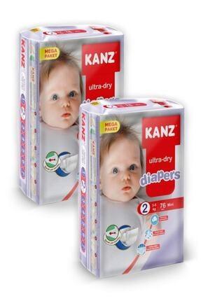 Kanz Mega 2 Numara Bebek Bezi 152 Adet 3-6 kg