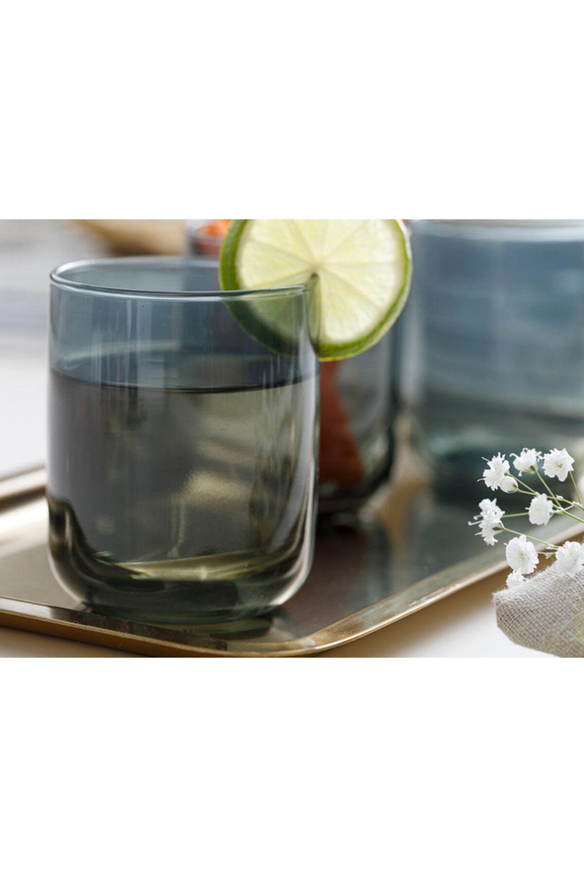 English Home Pia Cam 3'lü Meşrubat Bardağı 270 Ml Yeşil 2