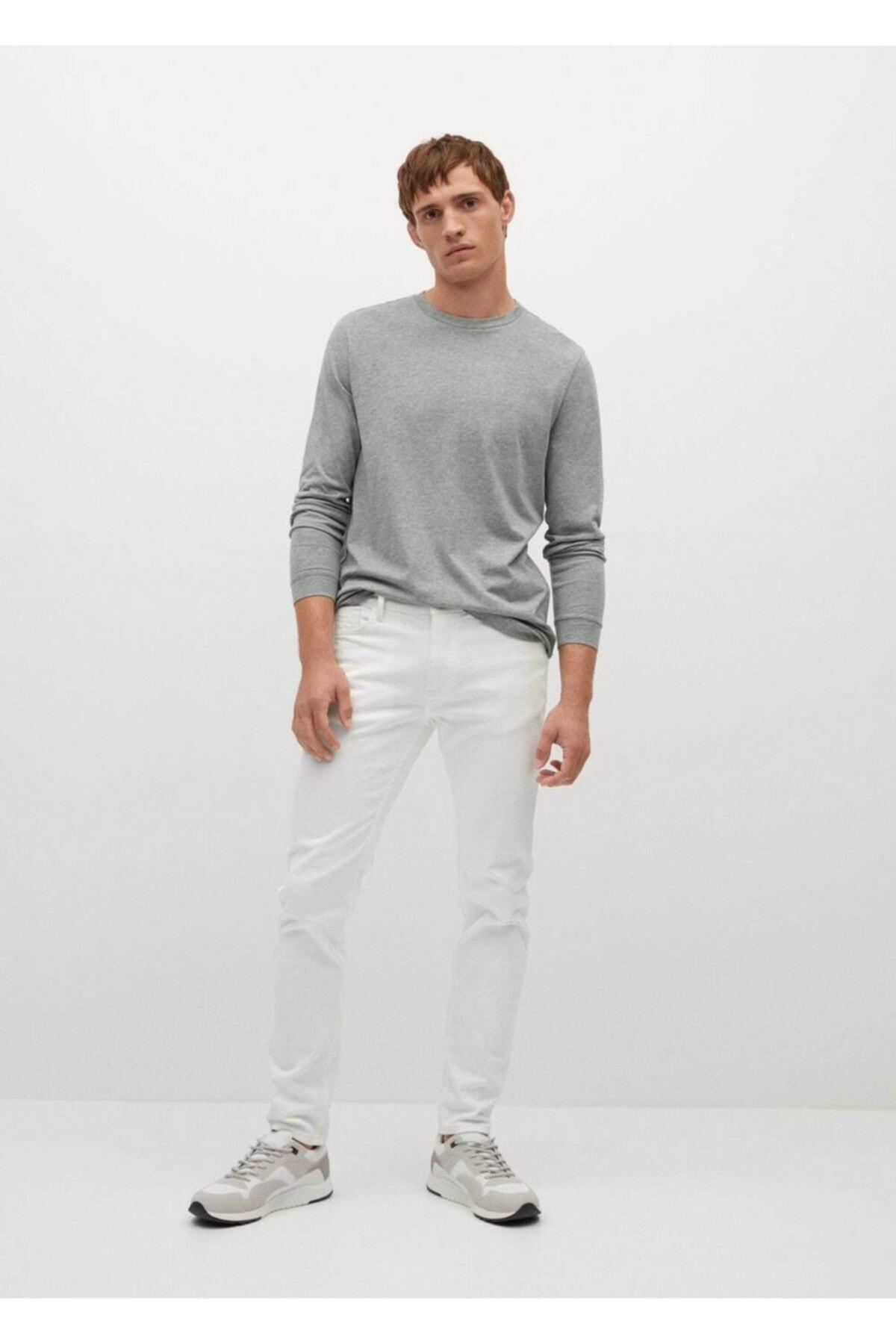 MANGO Man Uzun Kollu Pamuklu Gömlek 2