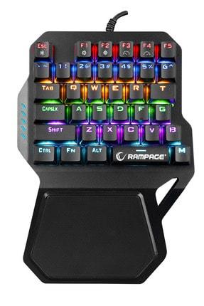 Rampage Kb-r77 Rainbow Backlight Red Switch Mekanik Usb 36 Tuşlu Mini Gaming Oyuncu Klavyesi