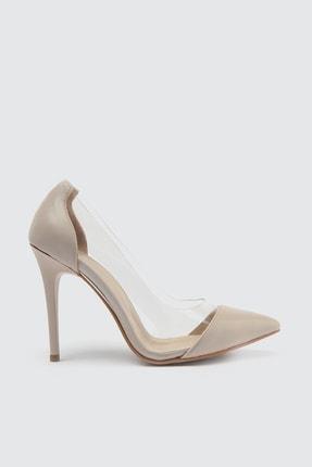 TRENDYOLMİLLA Bej Şeffaf Detaylı Kadın Klasik Topuklu Ayakkabı TAKSS21TO0007