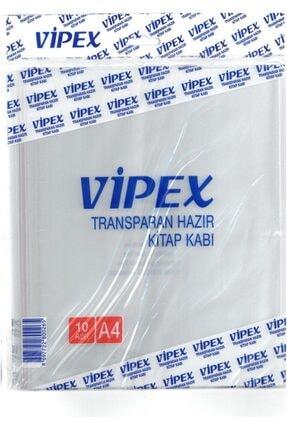 VİPEX Şeffaf Yapışkanlı Hazır Kitap Kabı 10 Lu  A4
