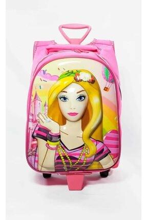 DOLCEZZA Barbie Tek Fermuarlı Anaokulu Ilkokulu Ve Günlük Kullanım Çantası Barbie Çekçekli Tekerlekli Çanta