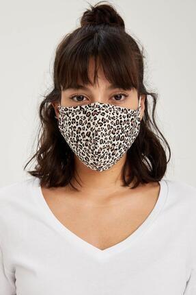 DeFacto Leopar Desenli Yıkanabilir Maske