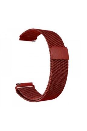 technopasaj Honor Watch Magic 2 46mm  Hasır Metal Örgülü Kırmızı  Kordon