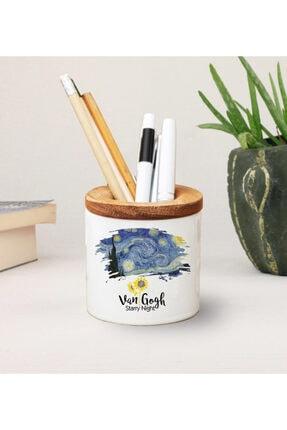 Kumbara Hediyelik Van Gogh Baskılı Seramik Kalemlik