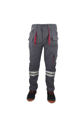 Çamdalı İş Elbiseleri - Harman Karışım Çok Cepli Gri Iş Pantolonu