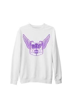 Lord T-Shirt Unisex Beyaz Bts Jimin Wings Kalın Sweatshirt