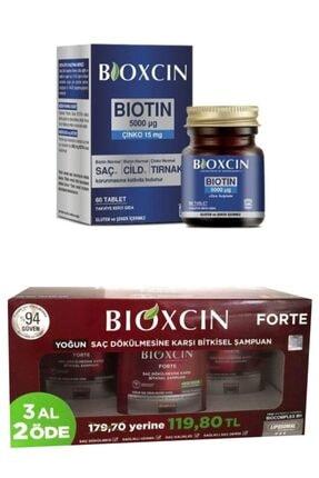 Bioxcin Forte Saç Dökülmesine Karşı Bitkisel Şampuan 3 Al 2 Öde Ve Biotin 5000 Mcg 60 Tablet