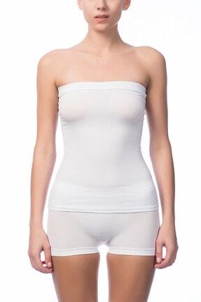 NBB Kadın Beyaz Straplez Body NBB 6144