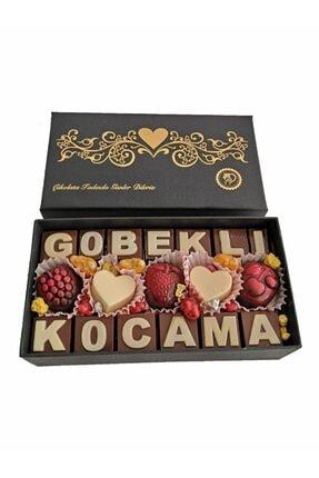 40 YIL ÇİKOLATA KAHVE Yazılı Harfli Isimli Resimli Hediyelik Çikolata Kutusu Koca Göbeklime