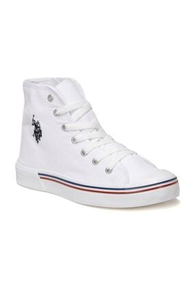 U.S. Polo Assn. Kadın Beyaz Penelope Hıgh 1fx Havuz Taban Sneaker