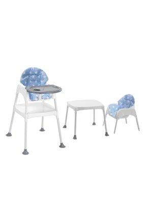 Moje Boom Çalışma Masalı Portatif Mama Sandalyesi - Mavi Yıldız