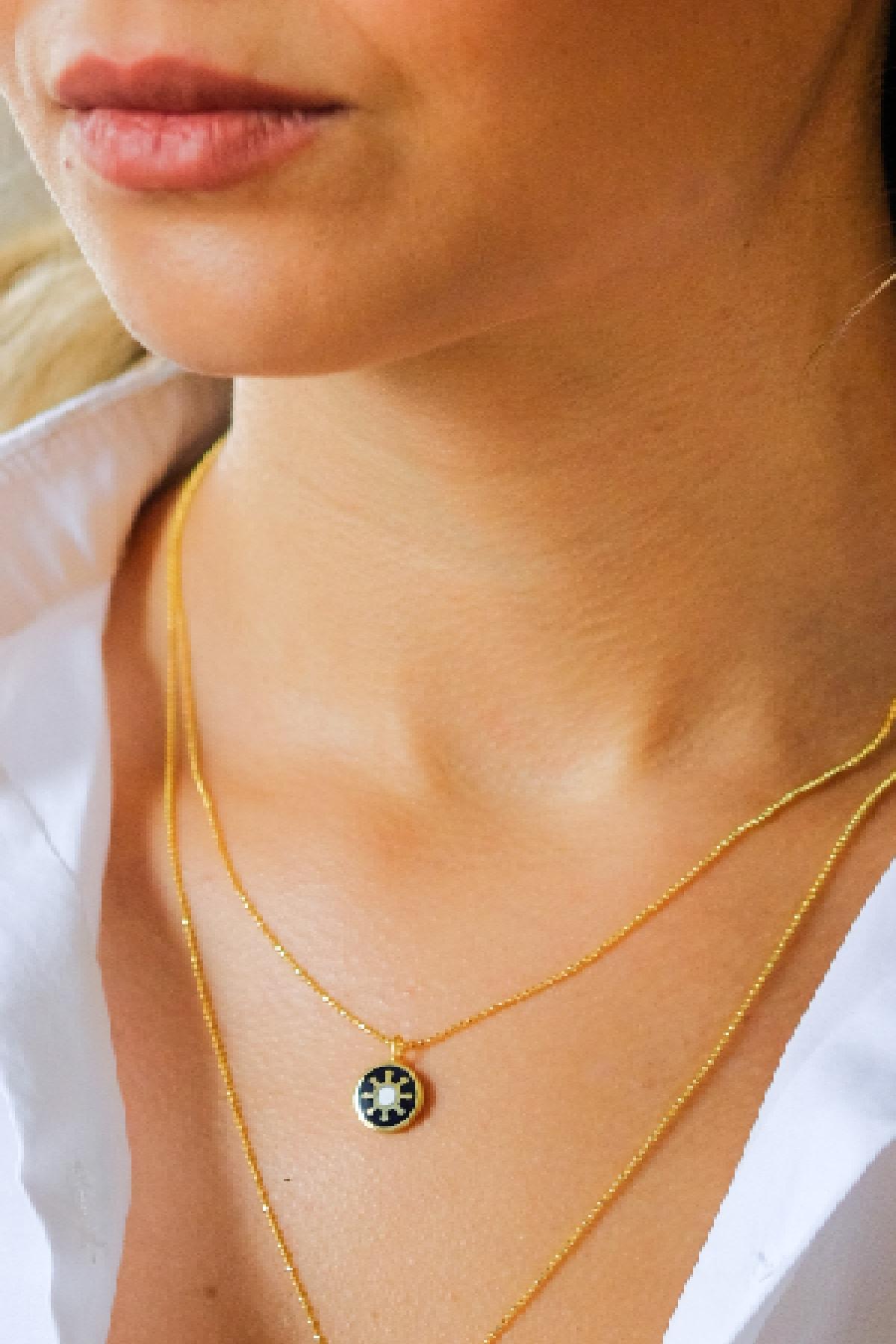 Gui Jewellery Harmony Mini Kolye Gümüş Üzeri Altın Kaplama 2