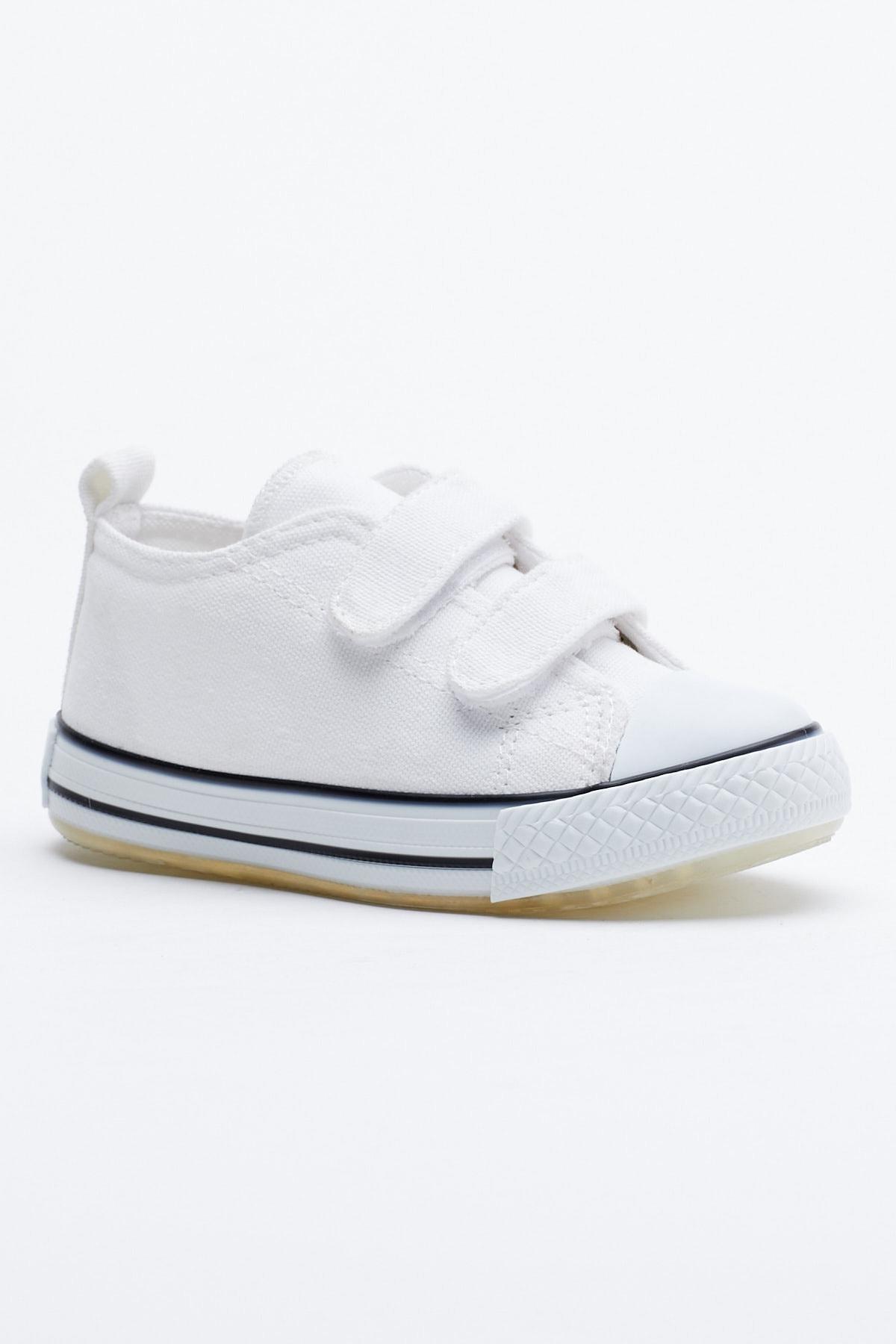 Tonny Black Beyaz Çocuk Spor Ayakkabı Cırtlı Tb997 1