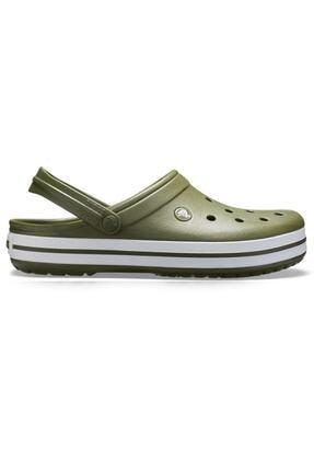 Crocs Crocband Bayan Terlik & Sandalet - Army Green/white (Ordu Yeşili/beyaz)