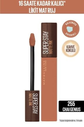 Maybelline New York Super Stay Matte Ink Likit Mat Ruj - 255 Chai Genius