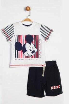 Mickey Mouse Erkek Çocuk Beyaz Disney Şortlu Takım 14041 Bmc14041-9201