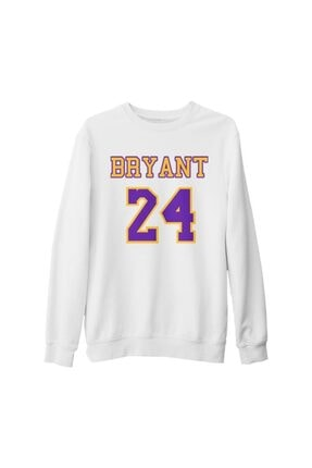 Lord T-Shirt Unisex Beyaz Kobe Bryant  24 Kalın Sweatshirt