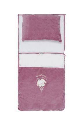 Aziz Bebe Kız Bebek Pembe Tavşan Nakışlı Yastıklı Alt Açma Azz025146