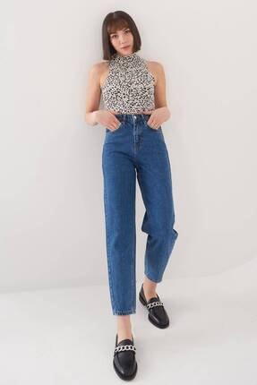 Addax Kadın Kot Rengi Yüksek Bel Jean Pantolon Pn7049 - Pnf ADX-0000023666