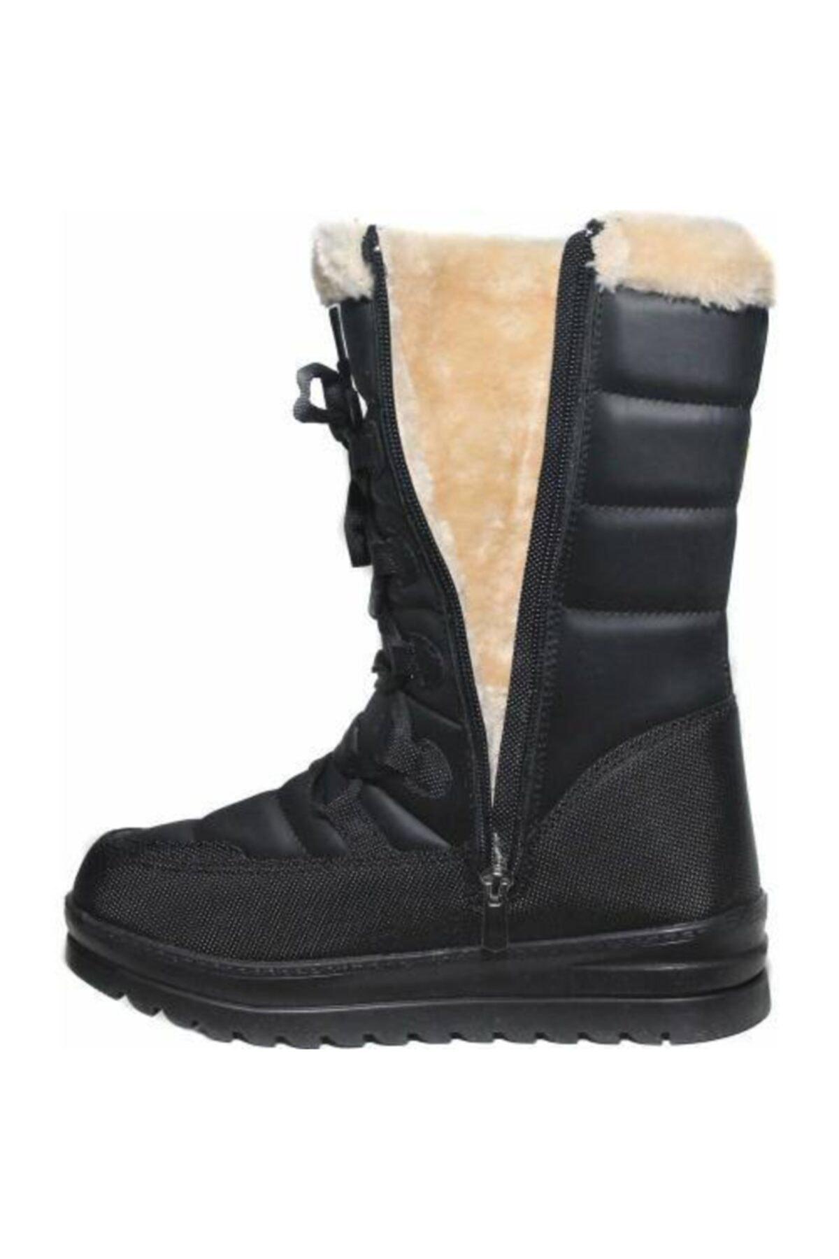 Twingo Arasmoda Bayan Kar Botu Kadın Kar Botu Kışlık Kürklü Fermuarlı Çizme 2
