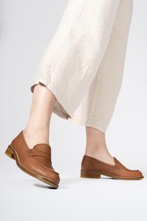 CZ London Hakiki Deri Kadın Günlük Bağcıksız Klasik Loafer Ayakkabı