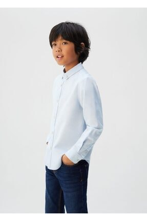MANGO Kids Pamuklu Oxford Gömlek