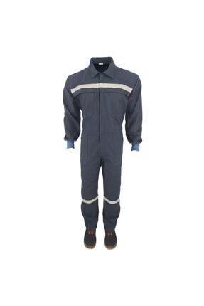 Çamdalı İş Elbiseleri Işçi Tulumu 16/12 Lacivert Gabardin Boy Tulum