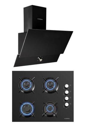 Luxell 2'li Ankastre Set (Lx-40 Tahdf Siyah Ocak- Da6-830 Siyah Davlumbaz)
