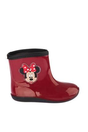 Minnie Mouse Mickey Mouse 97238 Kırmızı Siyah Kız Çocuk Panduf 100394274